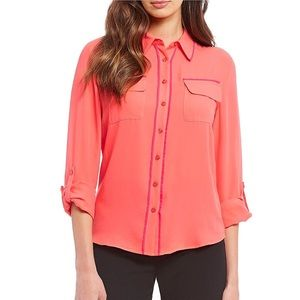 NWT Investments Long Roll-Tab Sleeve Utility Shirt